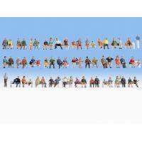 Noch 47402 Ülő figurák, 60 db, mega-kiszerelés