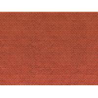 Noch 56690 3D-s dekorlap, tetőcserép/zsindely, hódfarkú, vörös, 250 x 125 x 0,5 mm