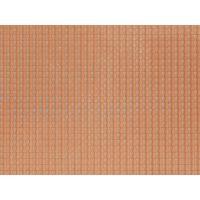 NOCH 60350 3D-s dekorlap, tetőcserép, sötétvörös, 28 x 10 cm