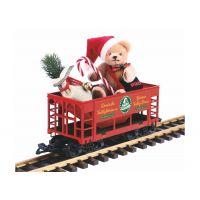 Piko 37813 Zúzalékszállító kocsi Teddy mackóval, karácsonyi dizájn