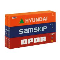 Piko 46101 Konténer szett 3x40' Samskip, Hyundai, OPDR TT