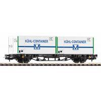 Piko 57796 Konténerszállító kocsi Lgs579 Kühl-Container DR IV
