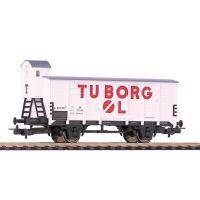Piko 58909 Zárt teherkocsi fékházzal G02, 'Tuborg-Carlsberg', DSB III