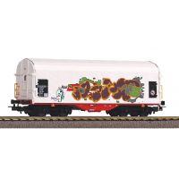 PIKO 58982 Eltolható oldalfalú kocsi Shimmns, Rail Cargo Austria VI, graffitivel