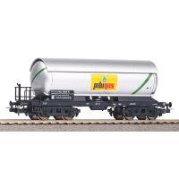 PIKO 58987 Tartálykocsi fékhíddal, napvédő tetővel, gázszállító, Pibi Gas, FS III