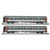 Piko 94328 Személykocsi-szett Corail 2 x  2.o. fülkés, SNCF IV-V