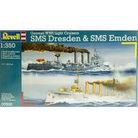 Revell 05500 German WWI Light Cruisers SMS Dresden  SMS Emden 1:350