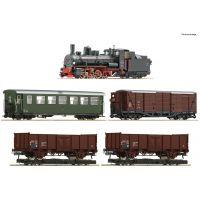 Roco 31032 Vonat szett, Rh 399 gőzmozdony teherkocsikkal, ÖBB III, hangdekóderrel