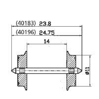 Roco 40196 Kerék 11 mm AC váltóáramú 2 db