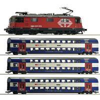 Roco 61444 Vonatszett Re 420 227-1 villanymozdony emeletes kocsikkal, SBB VI, 2. szerelvény