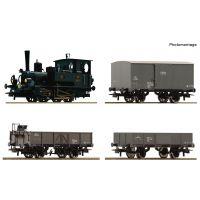Roco 61457 Vonat szett, Rh 85.10 gőzmozdony tehervagonokkal, 'Kaiserzeit' , KKStB I