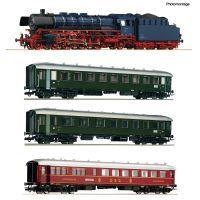 Roco 61474 Vonatszett BR 03.10 gőzmozdony gyorsvonati kocsikkal, DB III