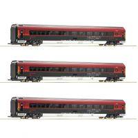 Roco 64192 Railjet személyvagon szett, ÖBB VI, belső világítással