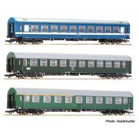 Roco 64196 Személykocsi szett D270 'Meridian' Express #2, MÁV/DR/CSD IV