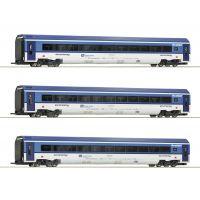 Roco 74068 Személykocsi készlet Railjet, CD VI, belső világítással