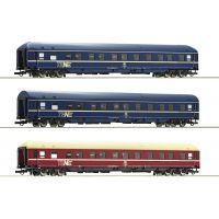 Roco 74129 Hálókocsi szett WLABm, TEN (Trans Euro Nacht), DB IV