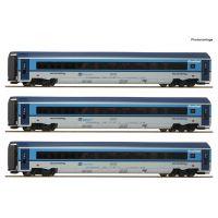 Roco 74140 Személykocsi szett Railjet Graz-Praha, CD VI, belső világítással
