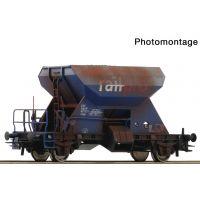 Roco 75960 Zúzalékszállító kocsi Fccpps, 'Railpro' VI, antikolt, 1. pályaszám