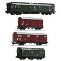 Roco 76036 Postakocsi készlet, DB III