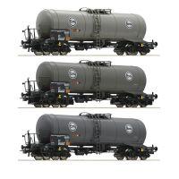 Roco 76052 Tartálykocsi fékhíddal szett, Eva, DB IV