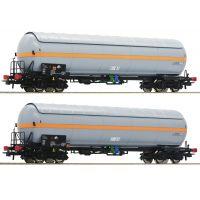 Roco 76073 Tartálykocsi szett Zags, gázszállító, NACCO VI, napvédő tetővel