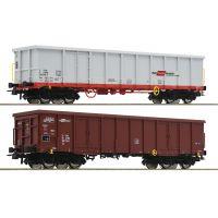 Roco 76076 Nyitott teherkocsi szett Eas/Eanos, RCA/RCH, ÖBB VI