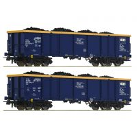Roco 76086 Nyitott teherkocsi szett Eaos, szénrakománnyal, Chem Trans Logistic VI