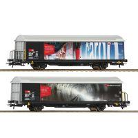 Roco 76490 Eltolható oldalfalú kocsi Hbils, 'Swiss Quality', SBB VI