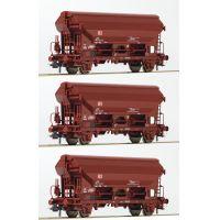 Roco 76575 Szétnyíló tetejű kocsiszett Tdgs, DB AG V