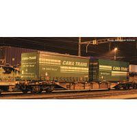 Roco 76949 Konténerszállító kocsi Sgnss, Cawa-Trans konténerekkel, SBB VI