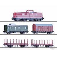 Tillig 01207 Digitális startszett V 80 dízelmozdony tehervagonokkal, DB III