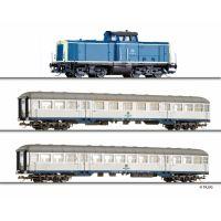 Tillig 01443 Startszett BR 212 071-5 dízelmozdony személykocsikkal, DB IV
