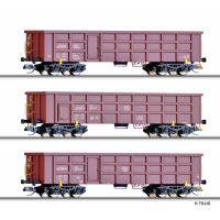 Tillig 01678 Nyitott teherkocsi szett Eaos On Rail GmbH/DB/BDZ V