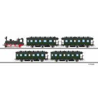 Tillig 01751 Vonat szett BR 89 T3 gőzmozdony (digitális), négy személyvagonnal, DRG II