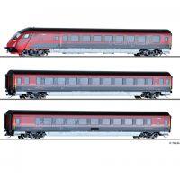 Tillig 01755 Személykocsi szett Railjet, vezérlőkocsival, ÖBB VI