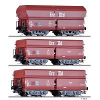 Tillig 01766 Önürítős ércszállító teherkocsi szett OOtz 41 és OOtz 43, 'Erzzug 3', DB III