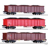 Tillig 01794 Nyitott teherkocsi szett Eanos-x/Eans, kőszénrakománnyal, DB AG V
