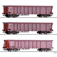 Tillig 01795 Gördülőtetejű teherkocsi szett Tamns 893, DB IV