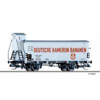 Tillig 17377 Hűtőkocsi fékházzal, 'Deutsche Kamerun-Bananen', DRG II