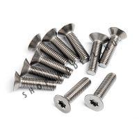 Titanium lapos csavar M5x20