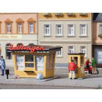 Auhagen 12340 Újságosbódé telefonfülkével, H0/TT