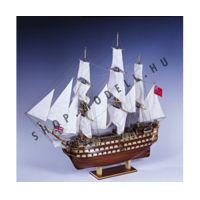HMS Victory vitorlás makett, fa hajó