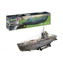 05163 REVELL Német tengeralattjáró Type VII C/41 1/72