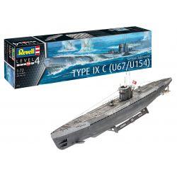 Revell 05166 German Submarine Type IX C U67/U154 (early conning tower)