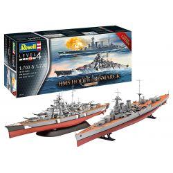 Revell 05174 Battle Set HMS HOOD vs. BISMARCK - 80th Anniversary