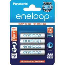 Akku AAA Eneloop 4db 750mAh- tölthető