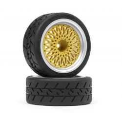 HPI 120266 BBS RS WHEELS SILVER-GOLD 26mm (6mm OFFSET)