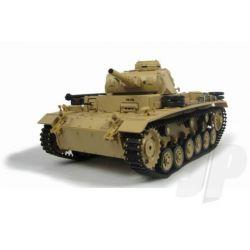 German Panzer III rc tank homokszínű