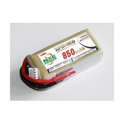 LiPo akkumulátor 3S 850mAh 11,1V 30C