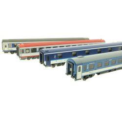 ACME 55119 Személykocsi készlet EuroNight Metropol-Chopin, MÁV/CD/ÖBB/PKP VI, 1. készlet